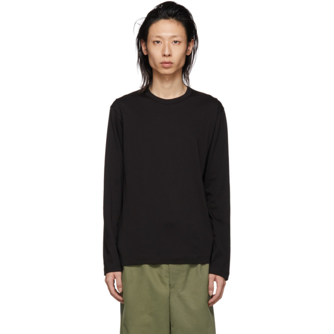 Image of Comme des Garçons Shirt Black Logo Long Sleeve T-Shirt