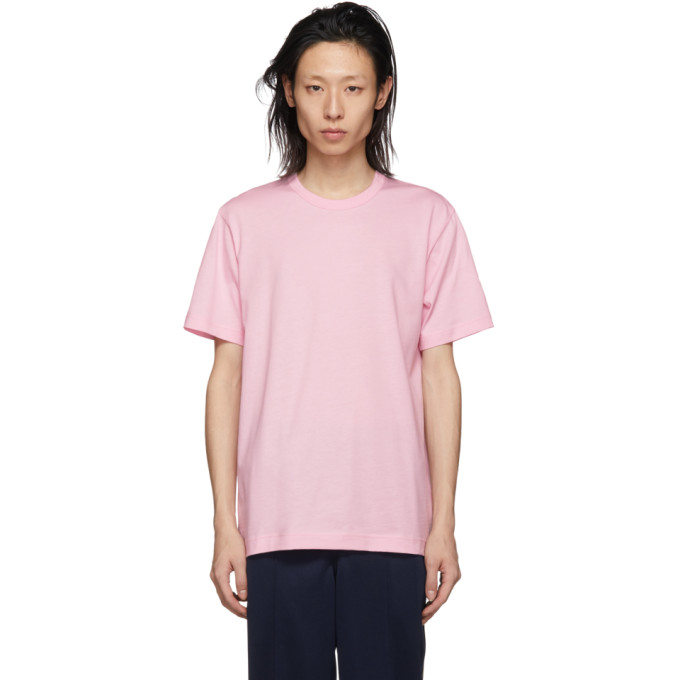 Image of Comme des Garçons Shirt Pink Logo T-Shirt