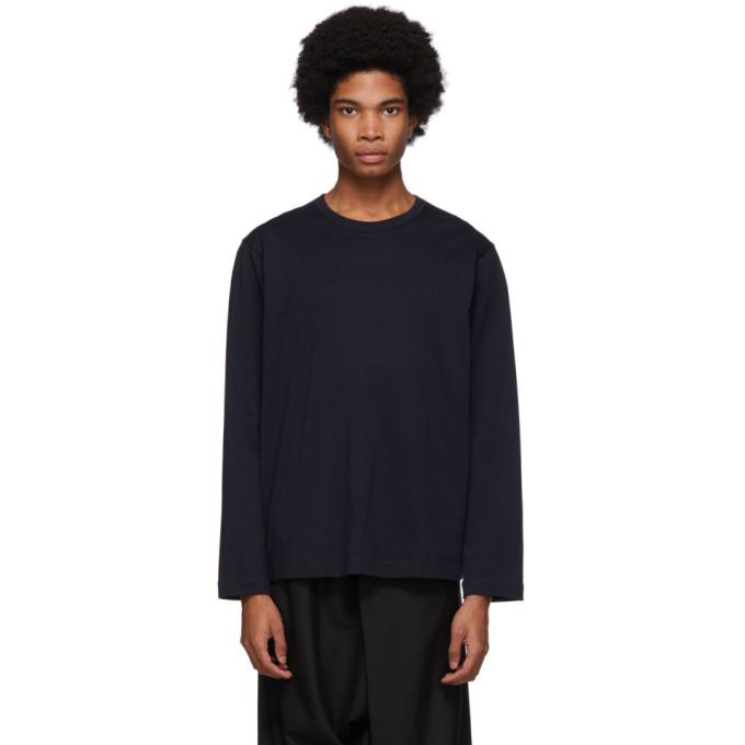 Image of Comme des Garçons Shirt Navy Forever Long Sleeve T-Shirt