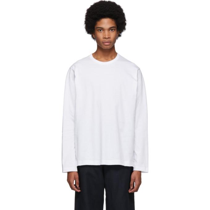 Image of Comme des Garçons Shirt White Forever Long Sleeve T-Shirt