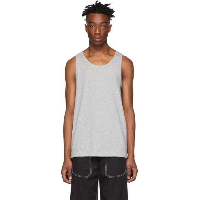 Image of Comme des Garçons Shirt Grey Cotton Tank Top