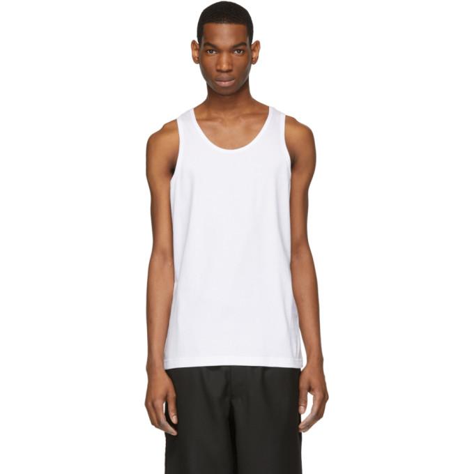 Image of Comme des Garçons Shirt White Tank Top