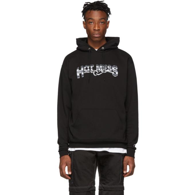 Hot Mess Pull a capuche et logo noir exclusif a SSENSE