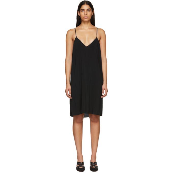 Raquel Allegra RAQUEL ALLEGRA BLACK SIMPLE SLIP DRESS