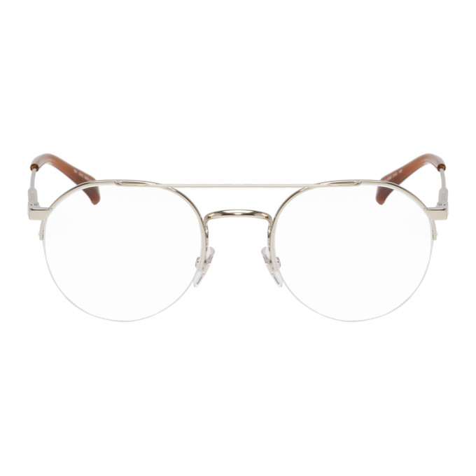 GIVENCHY | Givenchy Gold And Tortoiseshell Half-Rim Glasses | Goxip