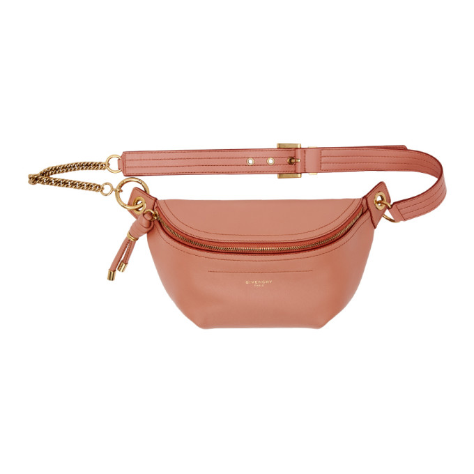 GIVENCHY   Givenchy Pink Whip Belt Bag   Goxip
