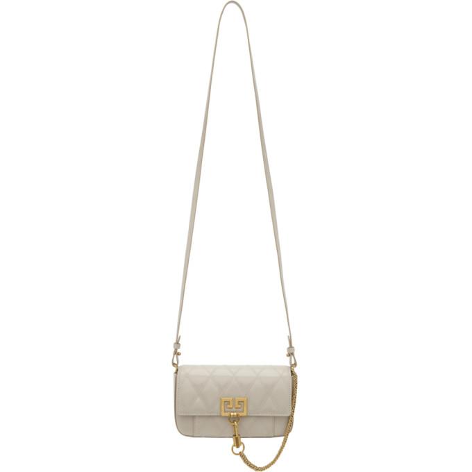 GIVENCHY | Givenchy Beige Diamond Mini Pocket Bag | Goxip