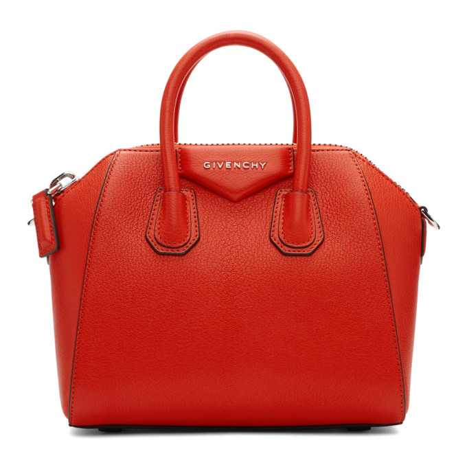 Givenchy Red Mini Antigona Bag