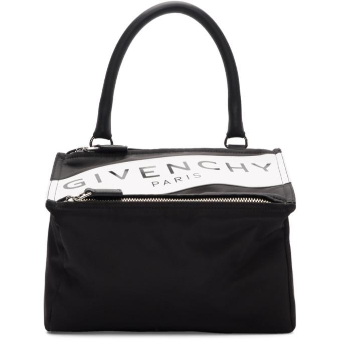 Givenchy Black Small Band Logo Pandora Bag