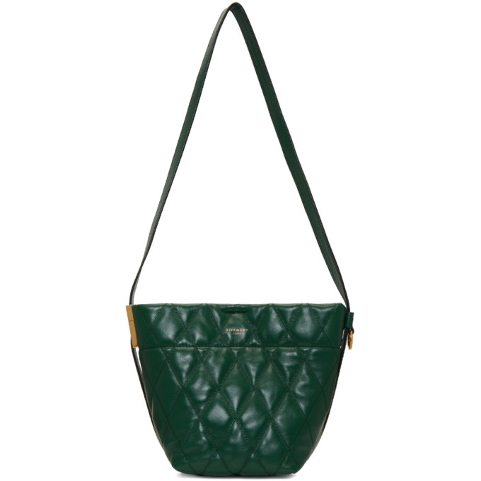 Givenchy Green Quilted Mini GV Bucket Bag