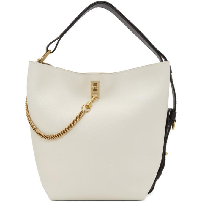 Givenchy White Medium GV Bucket Bag