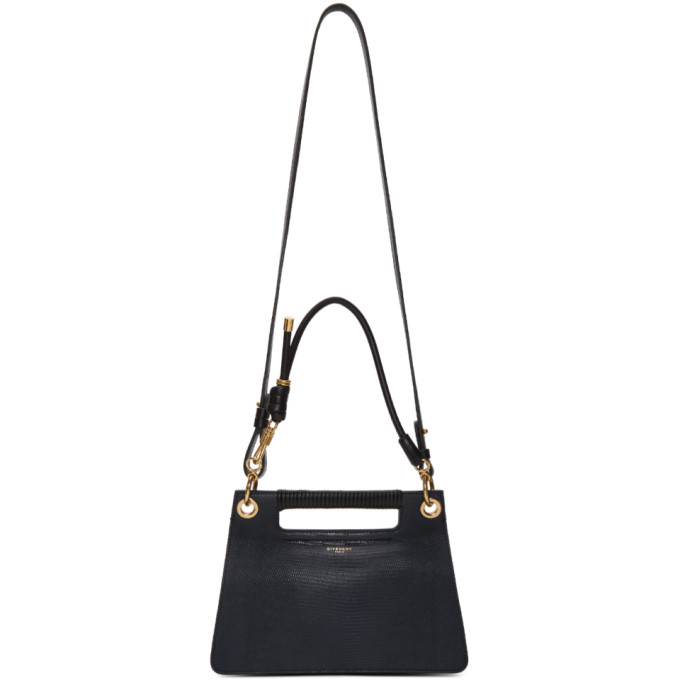 GIVENCHY | Givenchy Navy Lizard Small Whip Bag | Goxip