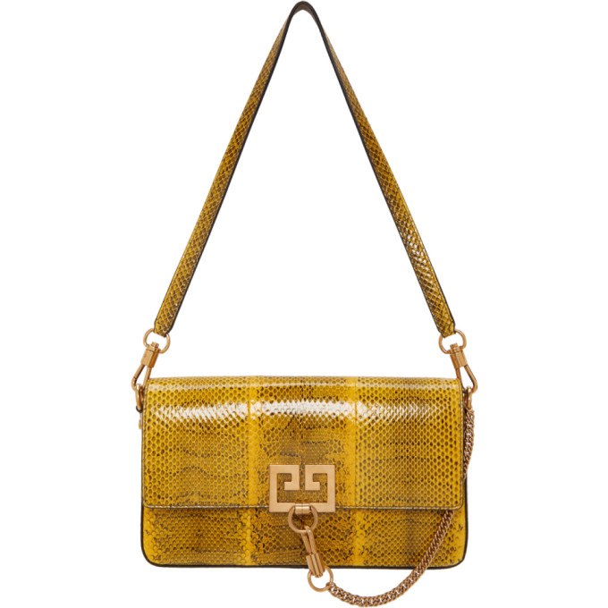 Givenchy Yellow Snake Small Charm Shoulder Bag
