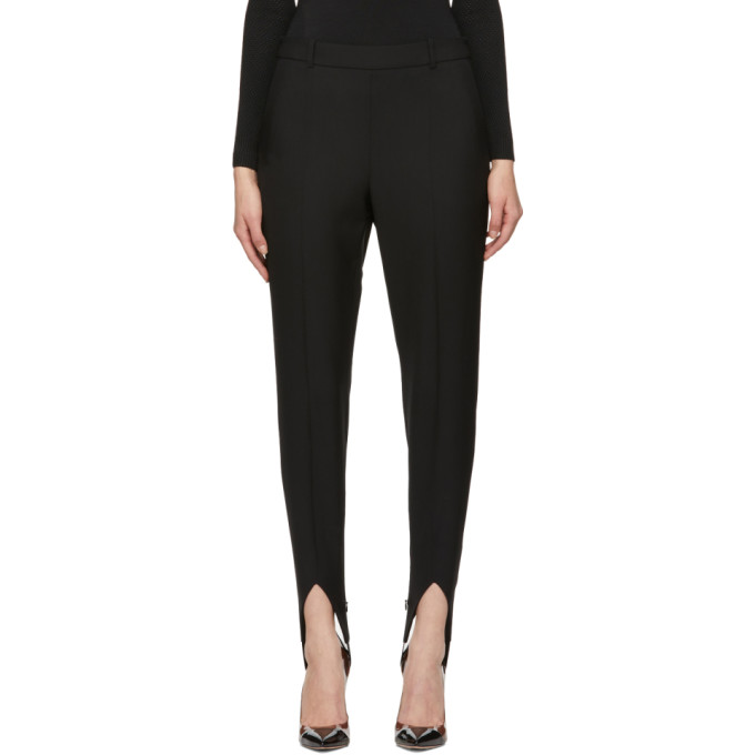 8860e5bebaa49 Givenchy High-Rise Wool Tapered Stirrup Pants In 001 Black ...