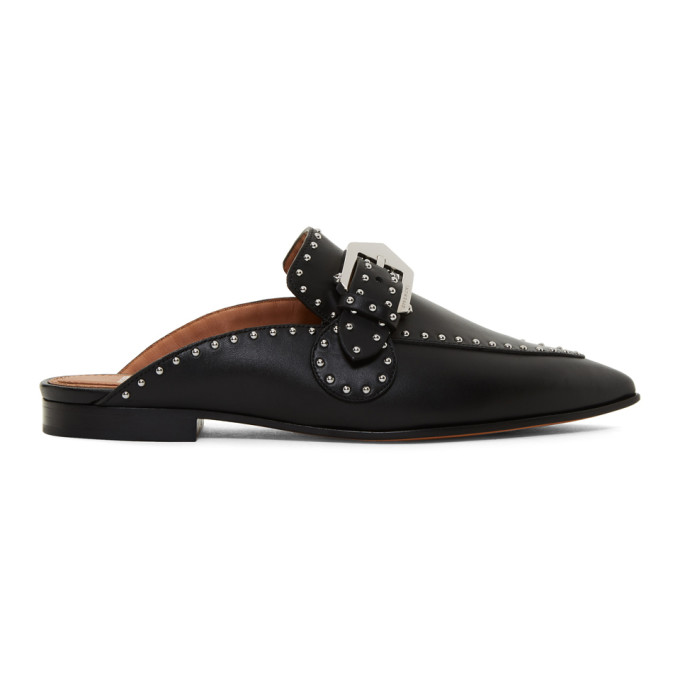 Givenchy Black Elegant Studded Slippers