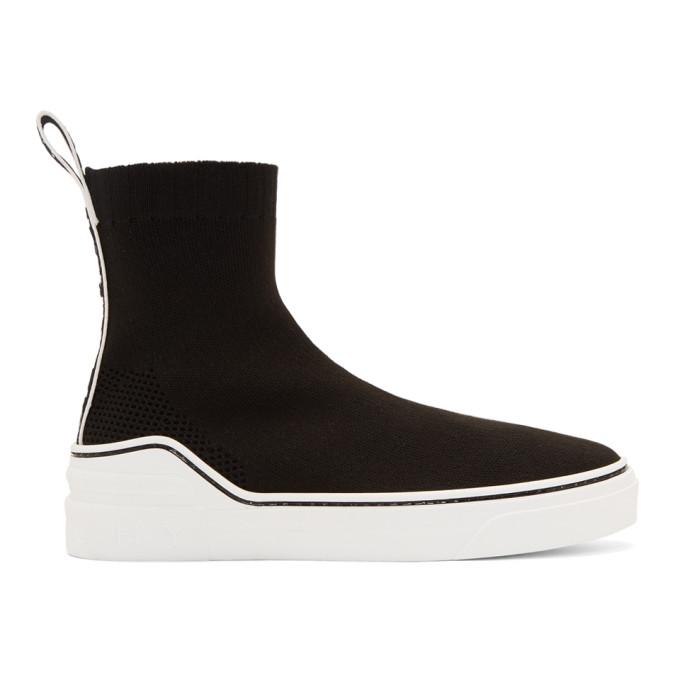 Givenchy Women's Be000De077001 Black Cotton Slip On Sneakers