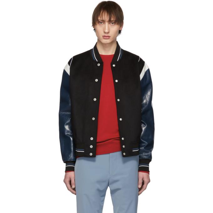 Givenchy ブラック ウール 4G ボンバー ジャケット