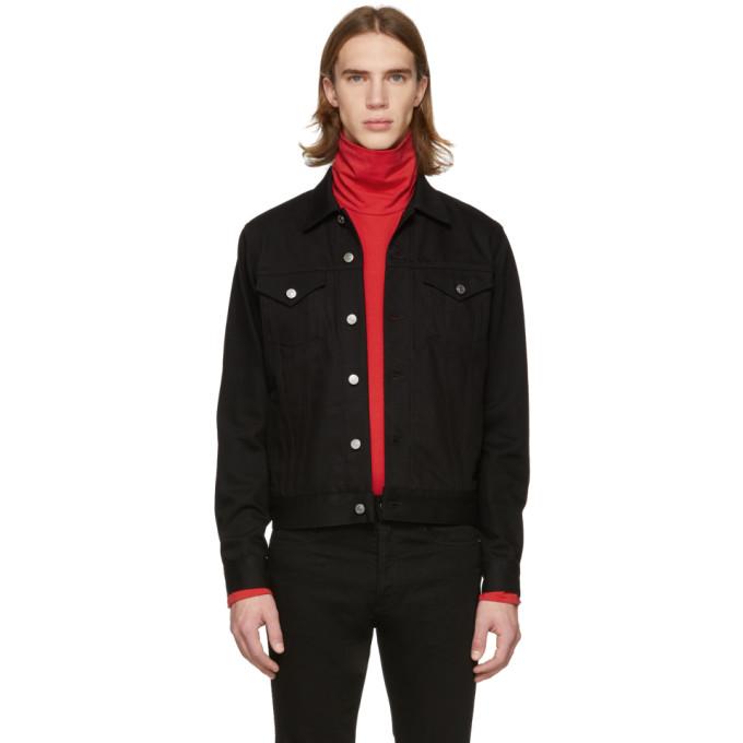 Givenchy ブラック デニム 4G ウェビング ジャケット