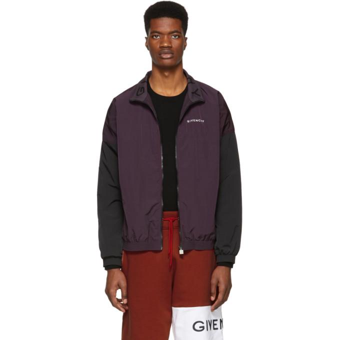 Givenchy パープル and ブラック ツートーン トラックスーツ ジャケット