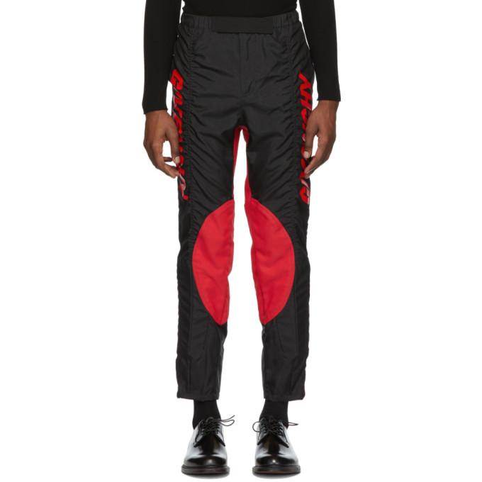 Givenchy ブラック and レッド 2 トーン バイカー パンツ