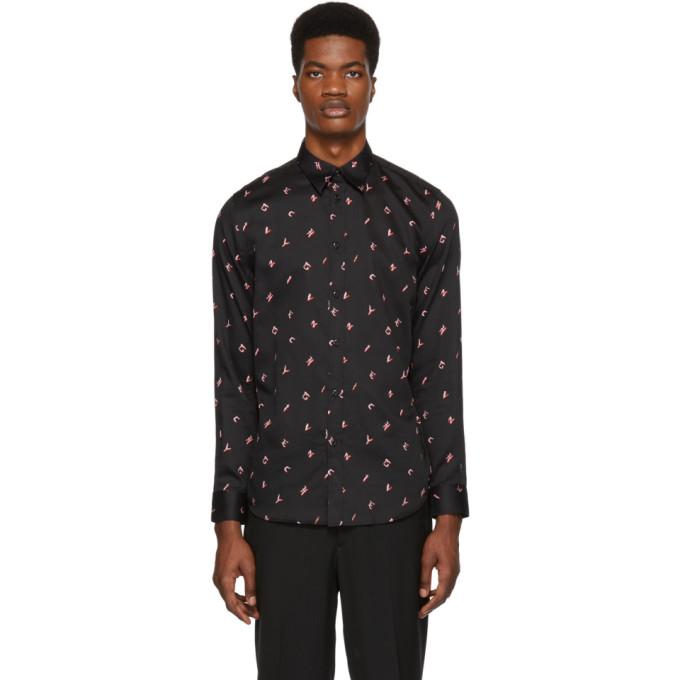 a97fda09bfe2 Givenchy Black Letters Shirt