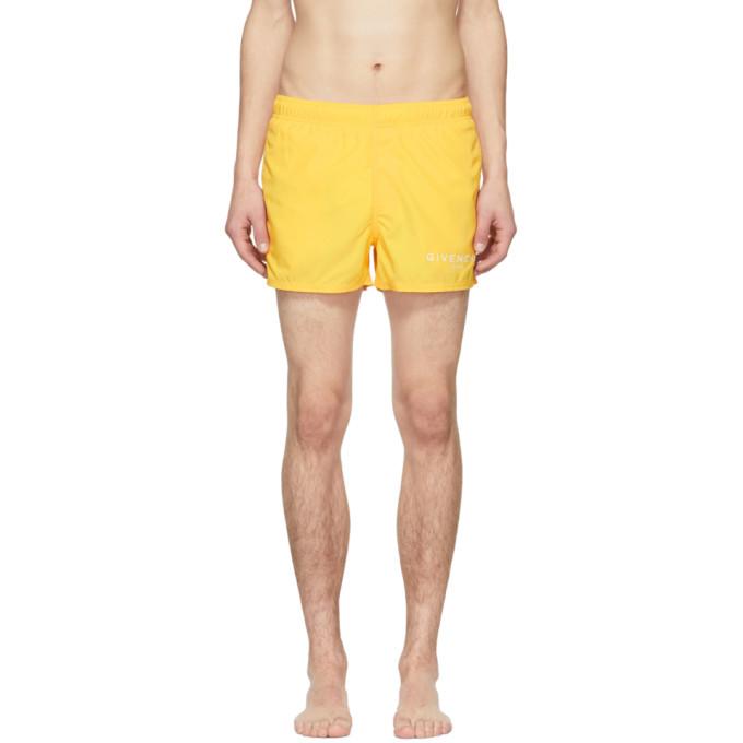 Givenchy Maillot de bain a logo jaune