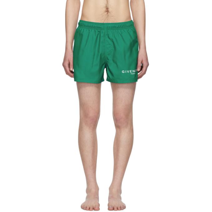 Givenchy Maillot de bain a logo vert