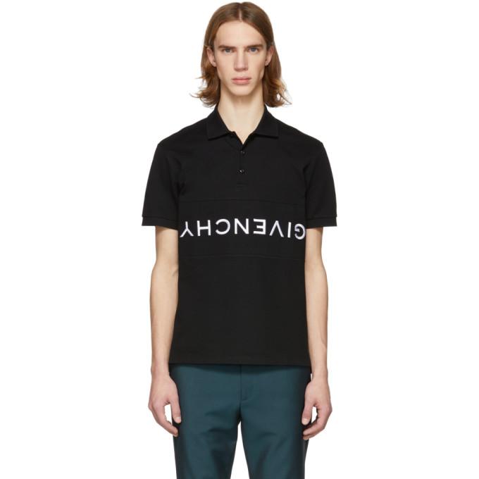 Logo-Embroidered Cotton-Pique Polo Shirt in 001 Black