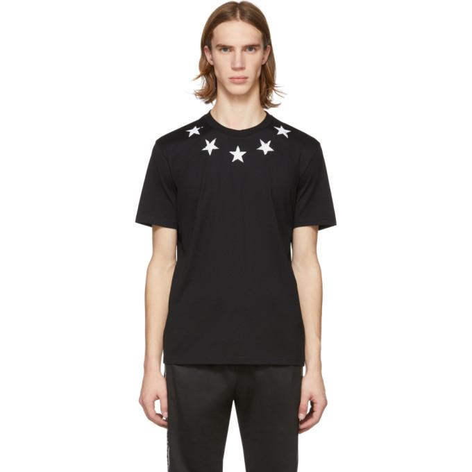 Givenchy ブラック and ホワイト ビンテージ スター T シャツ