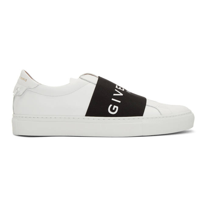 Givenchy Men's Urban Street Elastic Slip-On Sneakers, White/Black In 116 Wht/Blk