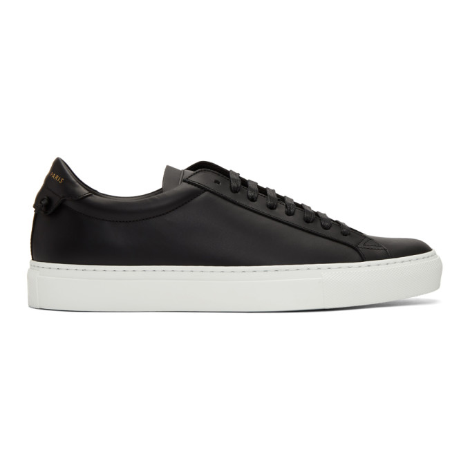 Givenchy Urban Street Low-Top Leather Trainers In 001 Black