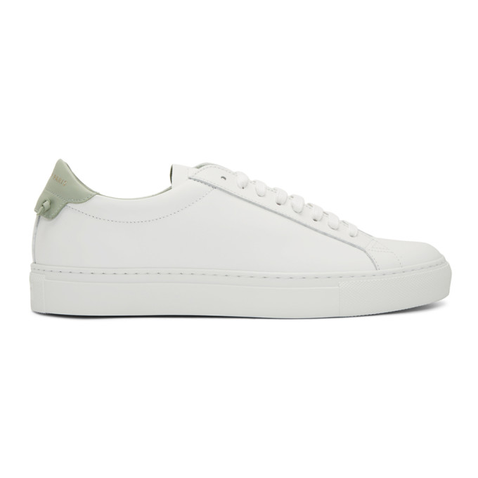 Givenchy Urban Street Leather Sneakers - White In White/Green