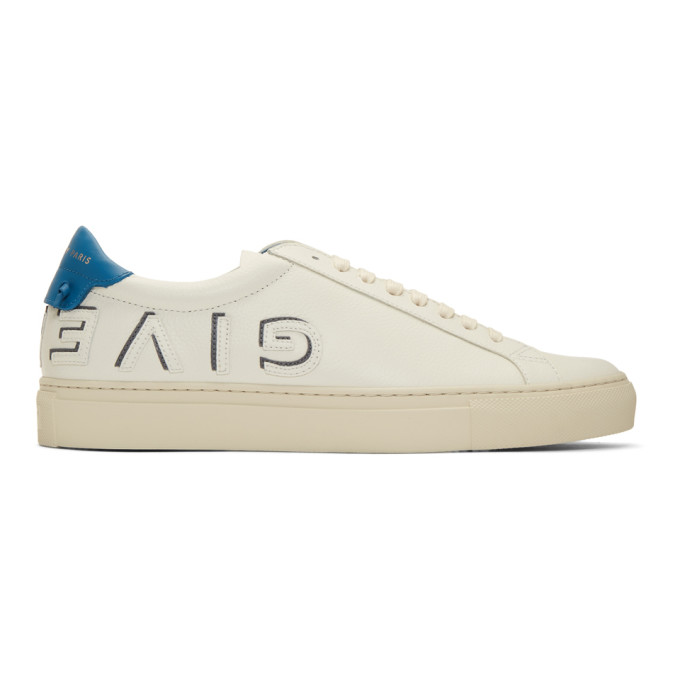 Givenchy Off-White & Blue Reverse Urban Knots Sneakers