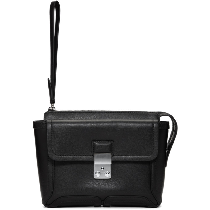 31 Phillip Lim Black Pashli Clutch