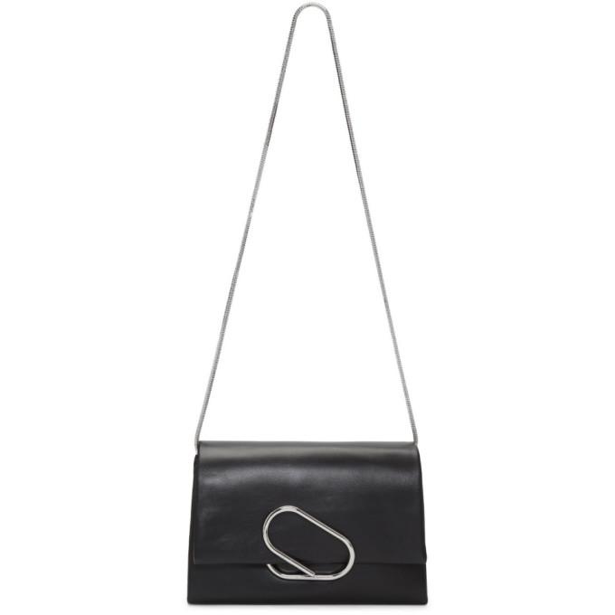 31 Phillip Lim Black Soft Flap Clutch Bag