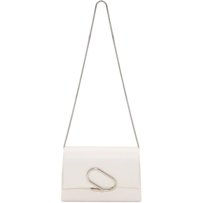 31 Phillip Lim White Soft Flap Clutch Bag
