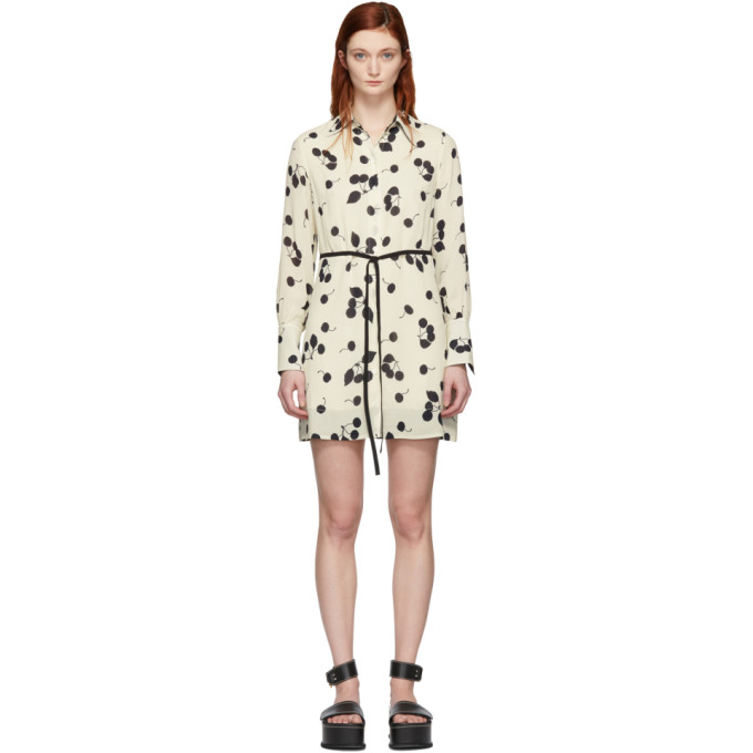 3d759d19bf6 3.1 Phillip Lim Belted Cherry-Print Shirt Dress In Iv115 Ivory