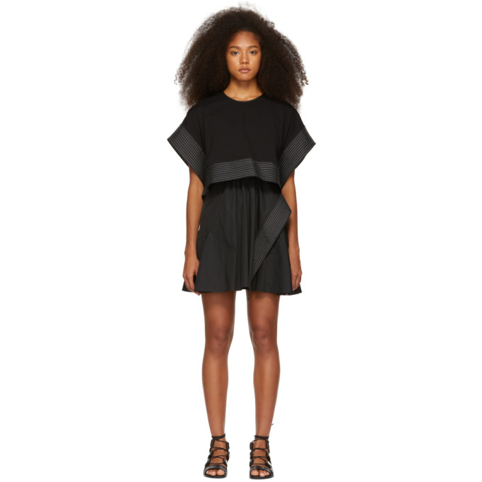3.1 Phillip Lim Black Box Crop Top Dress