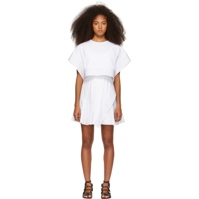 3.1 Phillip Lim White Box Crop Top Dress