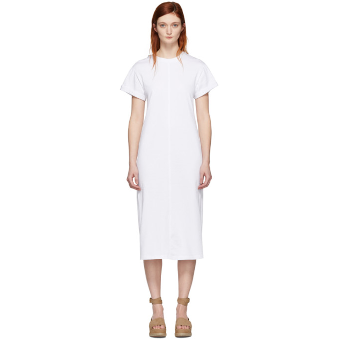 31 Phillip Lim White Shoulder Slit T Shirt Dress