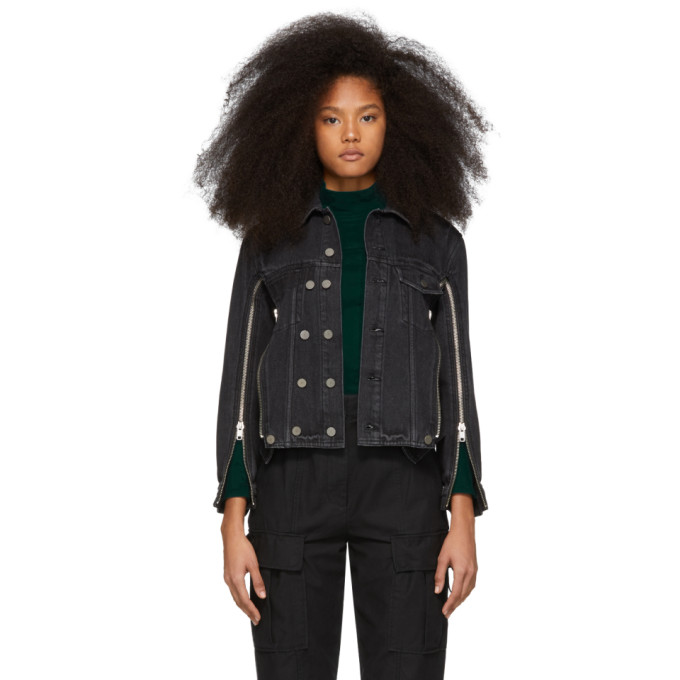 31 Phillip Lim Black Denim Zip Jacket