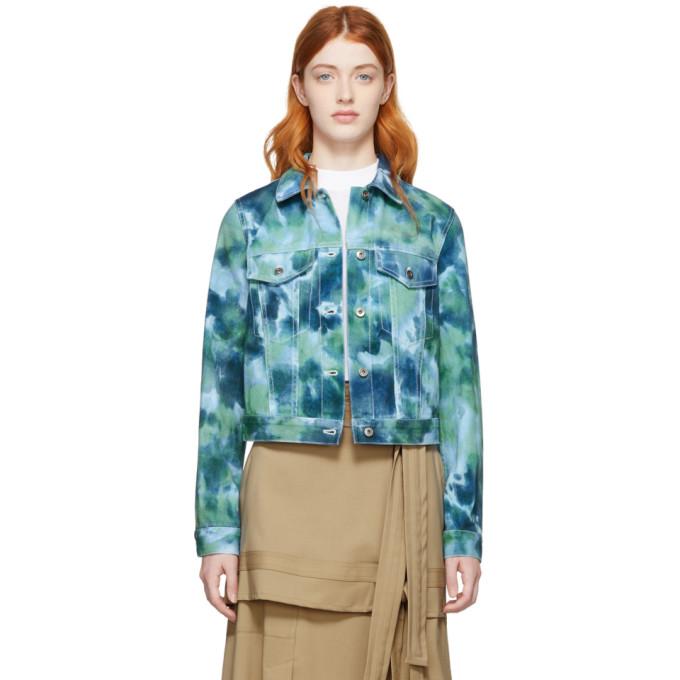 31 Phillip Lim Blue Green Denim Tie Dye Jacket