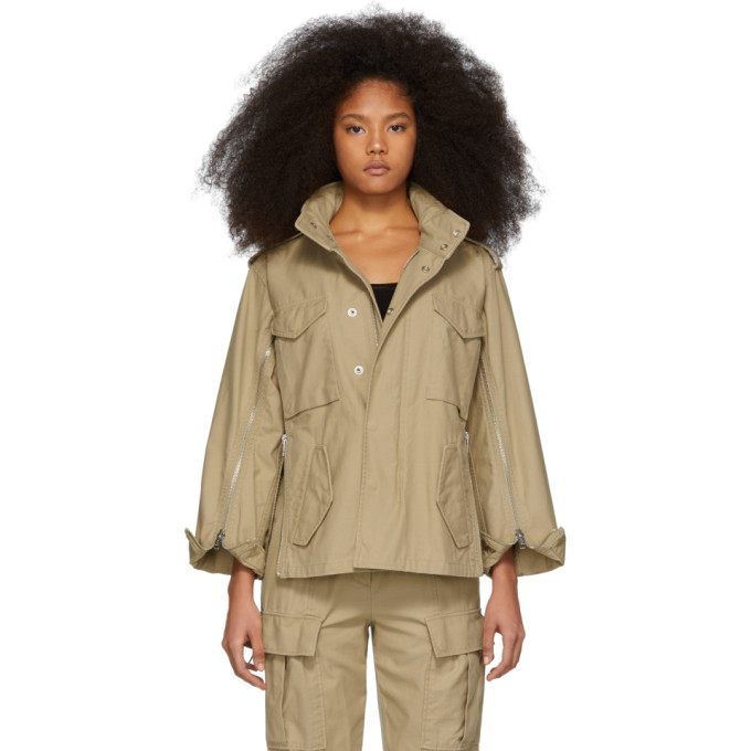 31 Phillip Lim Khaki Zip Field Jacket