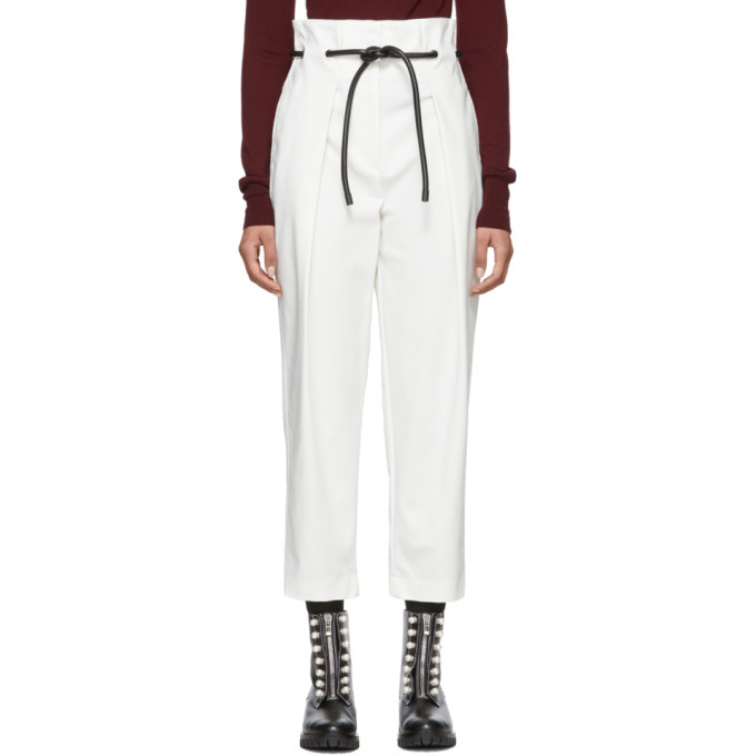 31 Phillip Lim White Origami Pleated Trousers