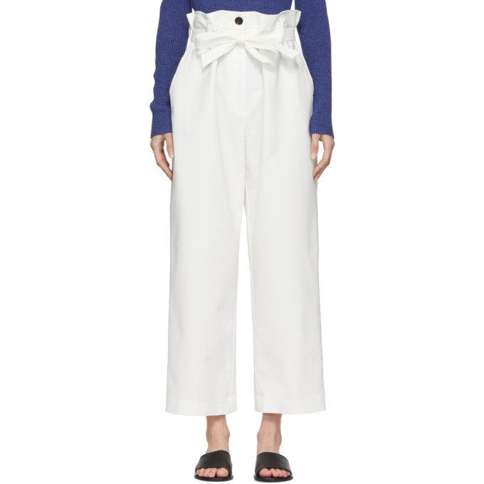 31 Phillip Lim White Paper Bag Cropped Trousers