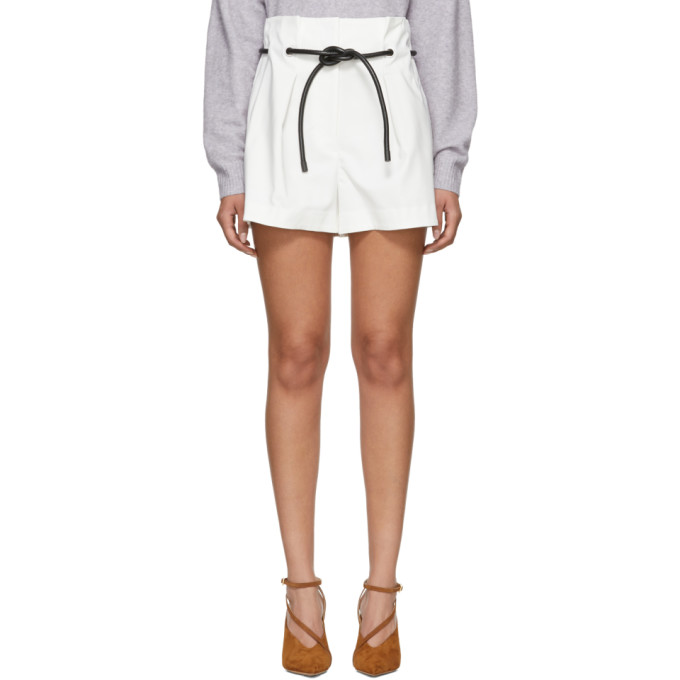 31 Phillip Lim White Origami Pleated Shorts
