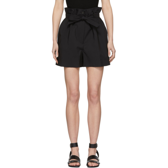 31 Phillip Lim Black Paper Bag Shorts