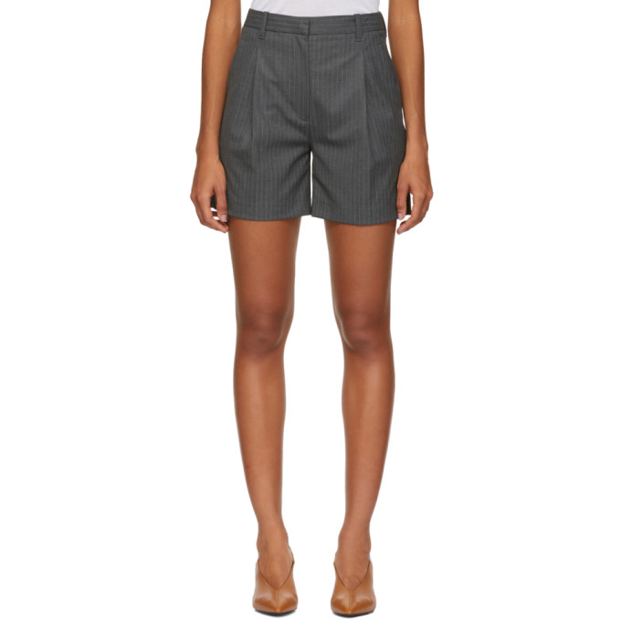 3.1 Phillip Lim Grey Pinstripe Walking Shorts