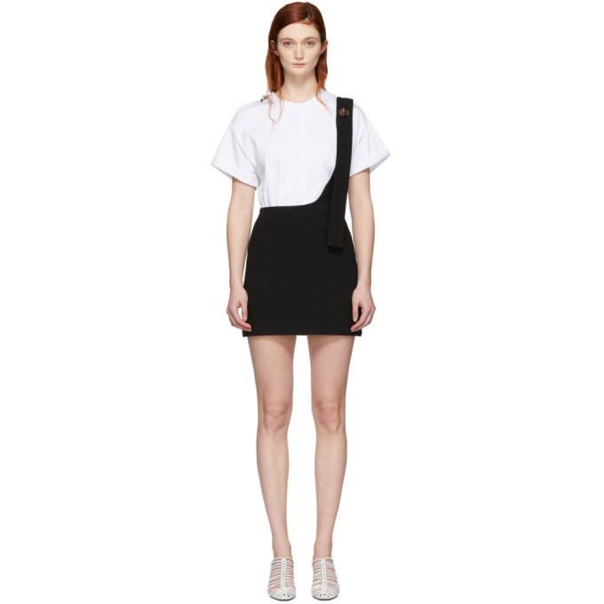 3.1 Phillip Lim Black Single Strap Miniskirt