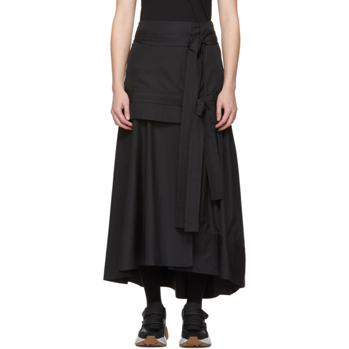 31 Phillip Lim Black Tie Front Maxi Skirt